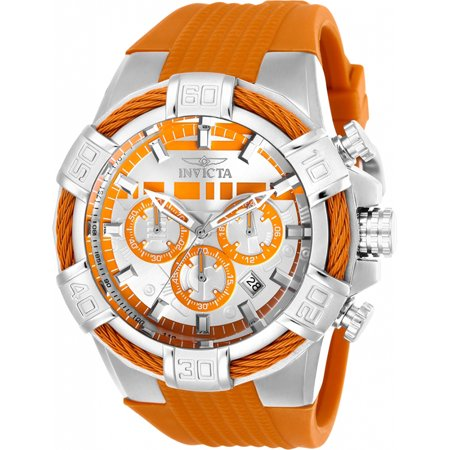 Invicta Men's Star Wars Chrono 100m Stainless Steel/Orange Silicone Watch 26261