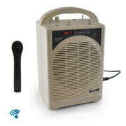 """Pyle PWMA120BM - Upgraded Pyle Professional Portable PA System, Amplifier With Built-in Handheld VHF Wireless Microphone, Bluetooth, Battery Rechargeable, MP3, USB, SD, 1/4"""", 3.5mm, Great for Karaoke"""