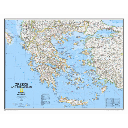 National Geographic Maps Greece Classic Wall Map