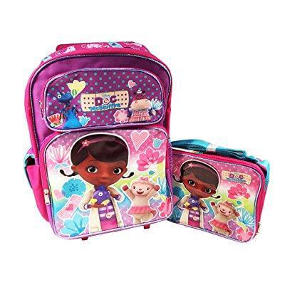 Disney doc mcstuffins 16 large rolling backpack with lunc...