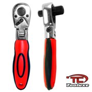 "Dual Stubby Flex Head Ratchets 72 Teeth 3/8"" & 1/2"" Drive Socket Wrenches"