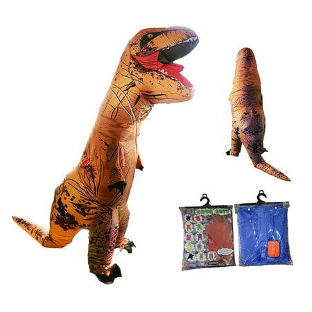 Adult T Rex Jurassic World Inflatable Dinosaur Costume Blow Up Fancy Dress