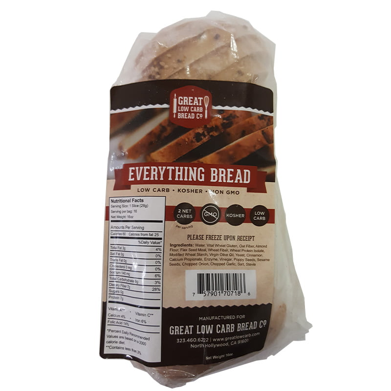 Great Low Carb Bread Company 1 Net Carb, 16 oz, Everything Bread by