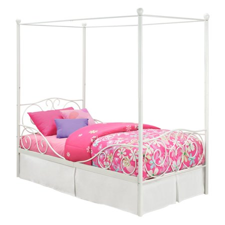 DHP Canopy Metal Bed, Multiple Sizes, Multiple Colors - Walmart.com