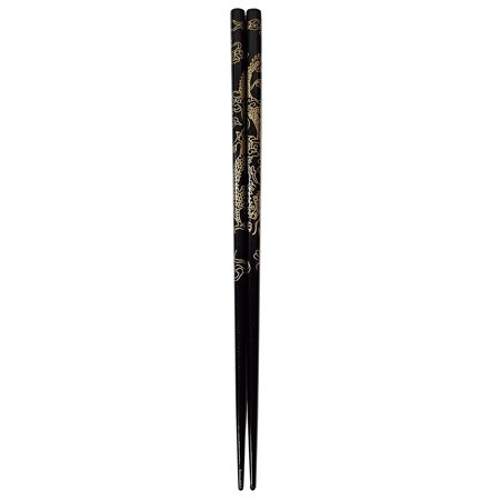 2 (1 Pair) Chopsticks w. Dragons Painting
