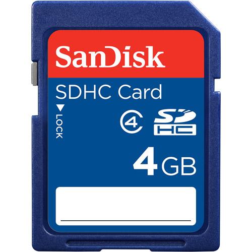 SanDisk 4GB SDHC Memory Card, Class 4