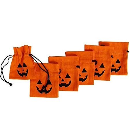 Dazzling Toys Halloween design 4 Inch Lantern Drawstring Canvas Bags () - D Is For Dazzle Halloween