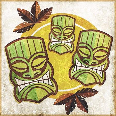 Custom Photo Factory \'Polynesian Tiki Masks\' Modern Canvas Print ...