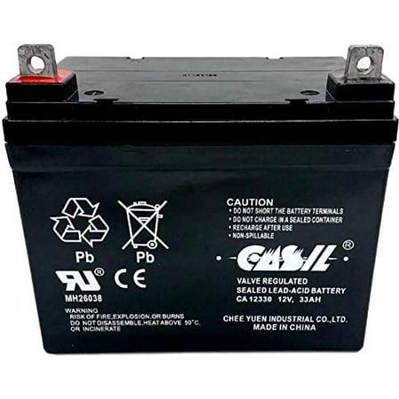 CASIL 12v 33ah for 35ah Vita Mobility Werks V16 V1A V9 Warrior WR12-33  Werker WKA12-33J WKDC12-33J BB Battery BP33-12 Johnson Controls U133 Werker