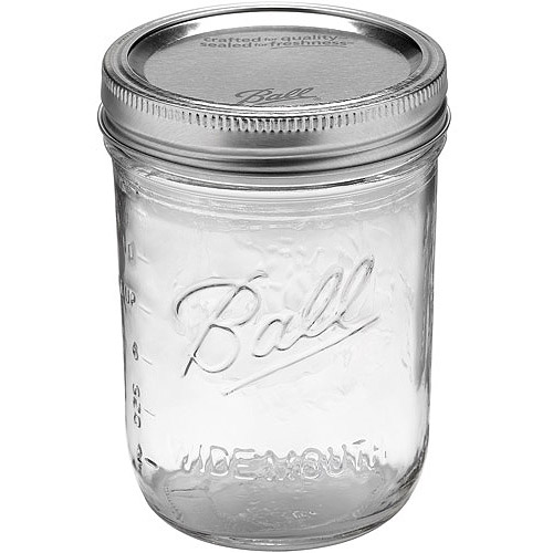 Ball 12-Count Wide Mouth Pint Jars with Lids and Bands