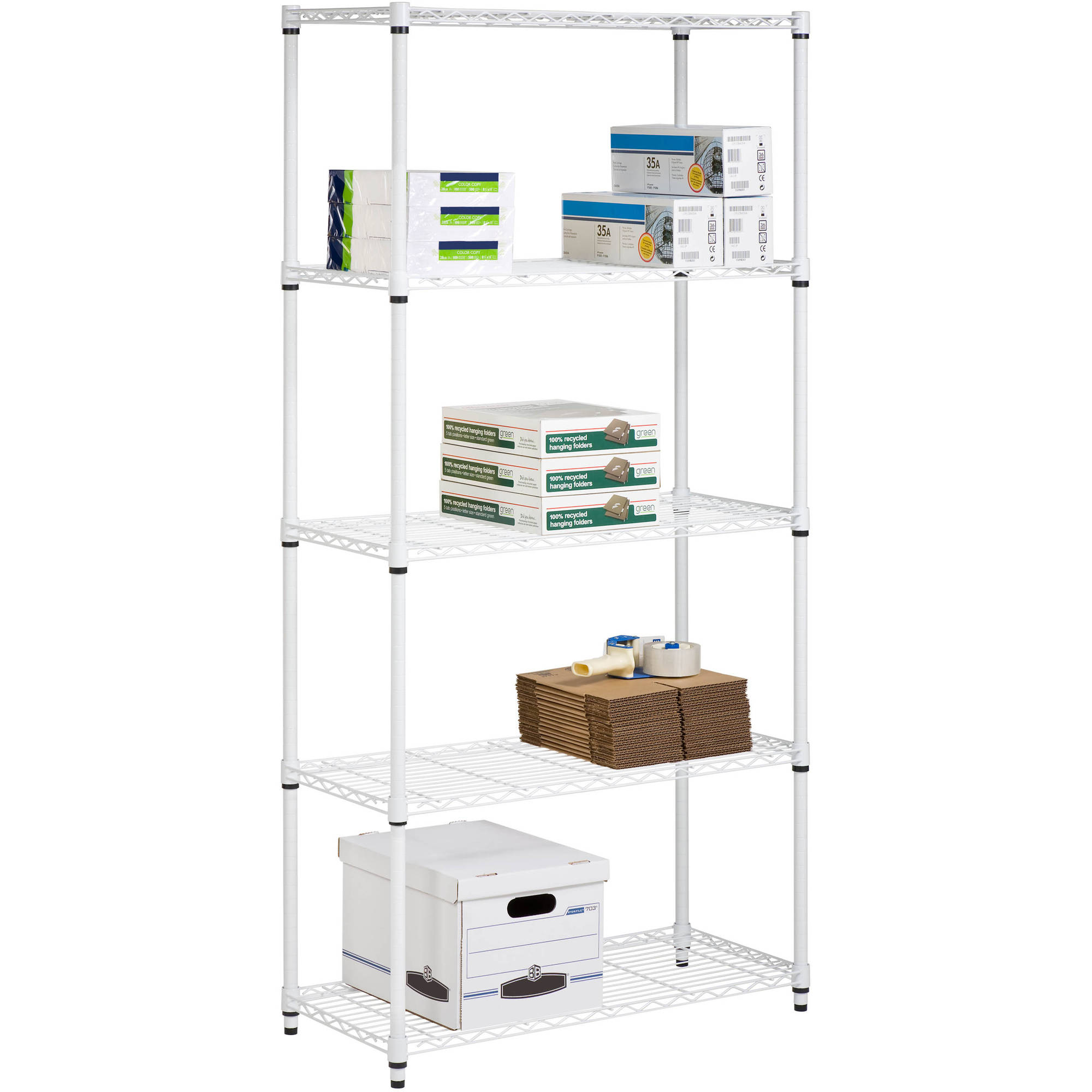 Marvelous Honey Can Do 5 Shelf Steel Storage Shelving Unit, White   Walmart.com