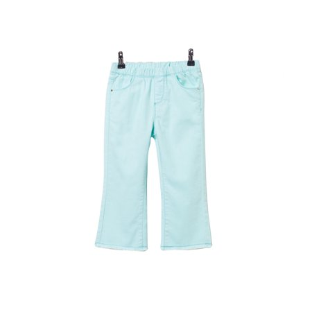 bossini Green Theme Girls Solid Cropped Flare Leg Pants 100,US Size 4t - Green