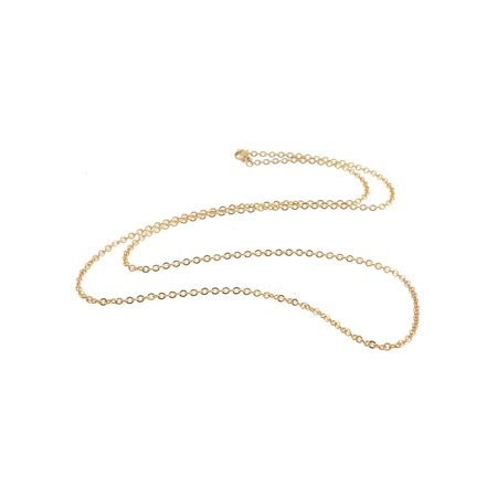 Stainless Steel Gold Tone Flat Cable Chains Jewelry Making Necklace