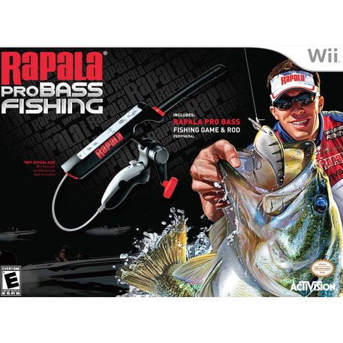 RAPALA PRO BASS FISHING W/ FISHING ROD (Wii)
