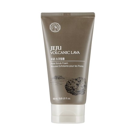 The Face Shop Jeju Volcanic Lava Face Scrub Foam,
