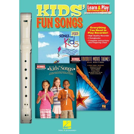 Hal Leonard Kids' Fun Songs Learn & Play 3-Book & Recorder Pack - Super Simple Learning Songs Halloween