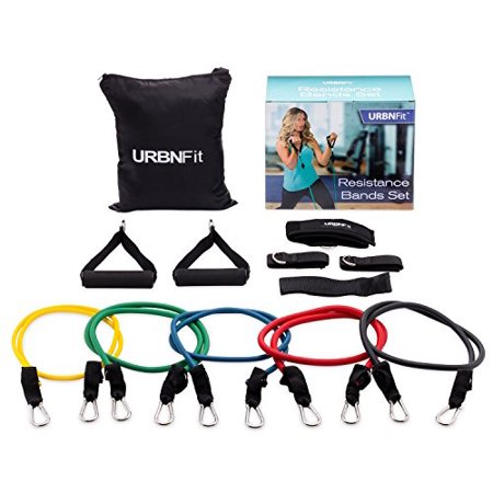 Resistance Bands Set  12 Piece  Includes Door Anchor  Ankle   Wrist Strap  Exercise Guide And Carrying Bag For Strengthening And Training  Pro Series