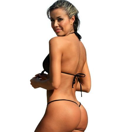 17c69b8277452 UjENA Sexy Sparkle Teeny G-String Swimsuit Beachwear - image 1 of 3 ...