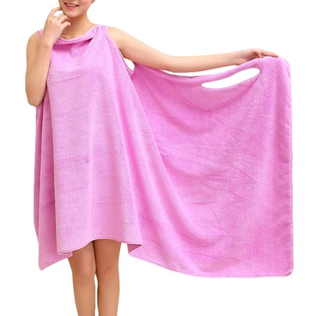 Microfibre Absorbent Quick Dry Wearable Spa Shower Bath Towel for Women & Kids Wicking Dry Quickly Soft Wrap for Daily Wearing Toddler,Purple color