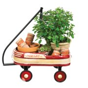 Cape Craftsmen Vintage Oval Wheelbarrow Plant Stand