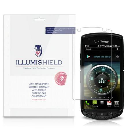 iLLumiShield Phone Screen Protector w Anti-Bubble/Print 3x for Kyocera Brigadier ()