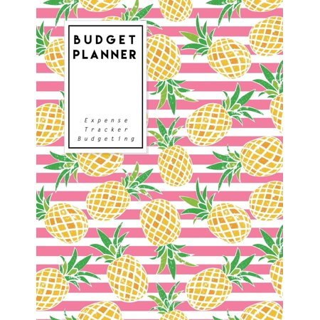 budget planner pink pine apple expense tracker budgeting size 8 5