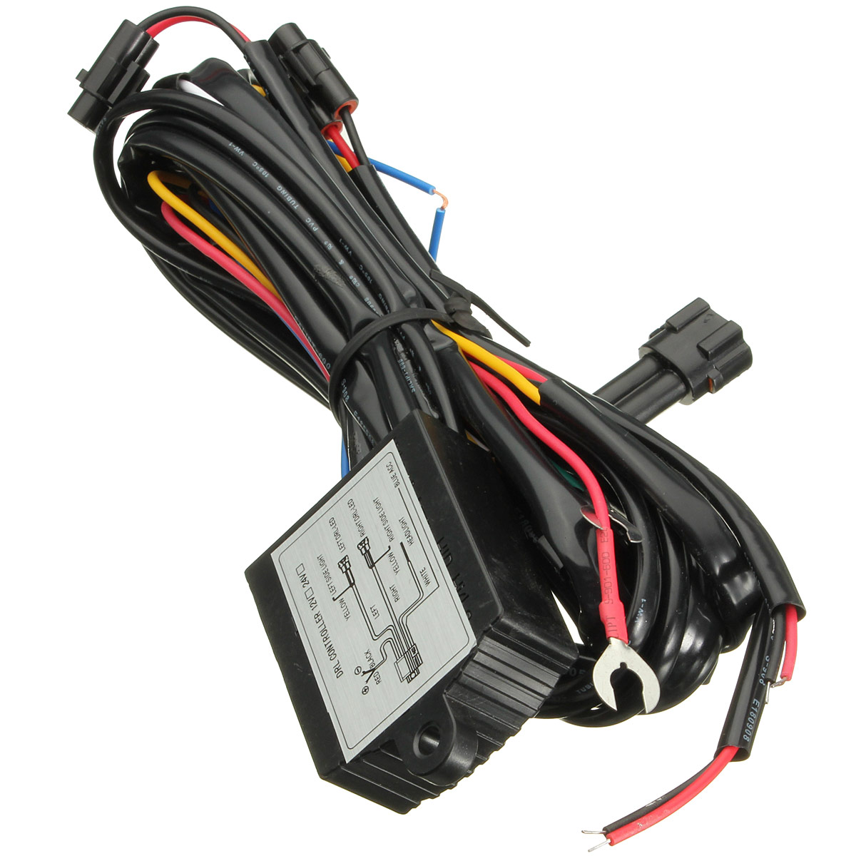 car drl dim control switch wiring harness daytime running light dimmer  dimming relay 12v universal vehicle auto truck suv van us - walmart com
