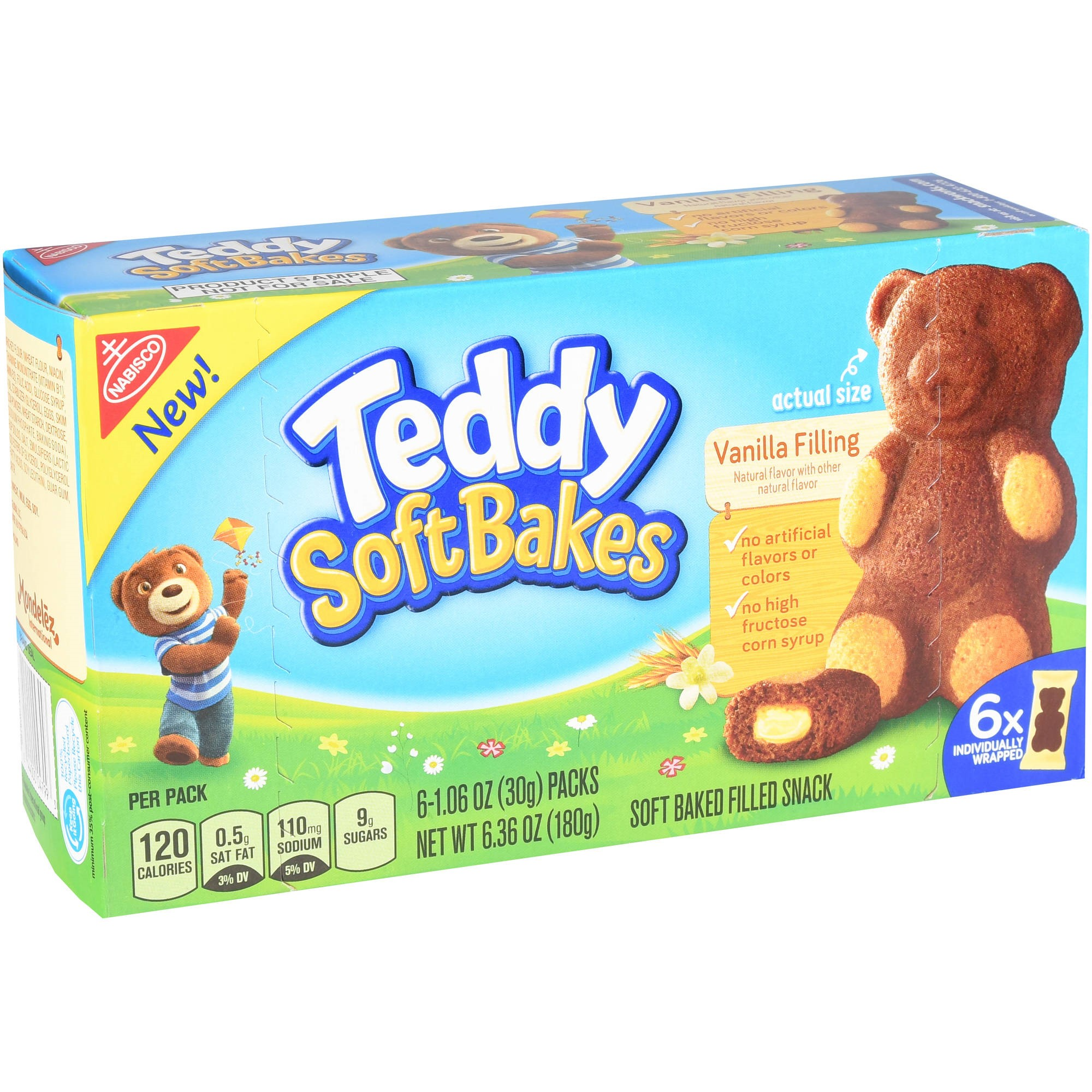 Teddy Soft Bakes Vanilla Filling - 6 CT