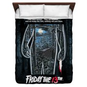 Friday The 13Th Poster Queen Duvet Cover White 88X88
