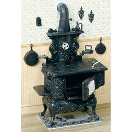 Dollhouse Cook Stove Kit (Antique Stove Miniature)