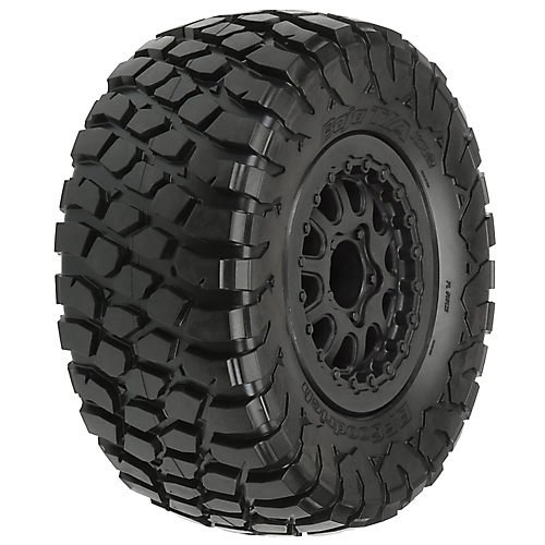1012313 BF Goodrich Baja T/A Kr2 M2 SC 2.2/3.0 Tires On Black Renegade Wheels for Slash/Slash 4X4, Made from Pro-Line's legendary M2 rubber compound By PROLINE