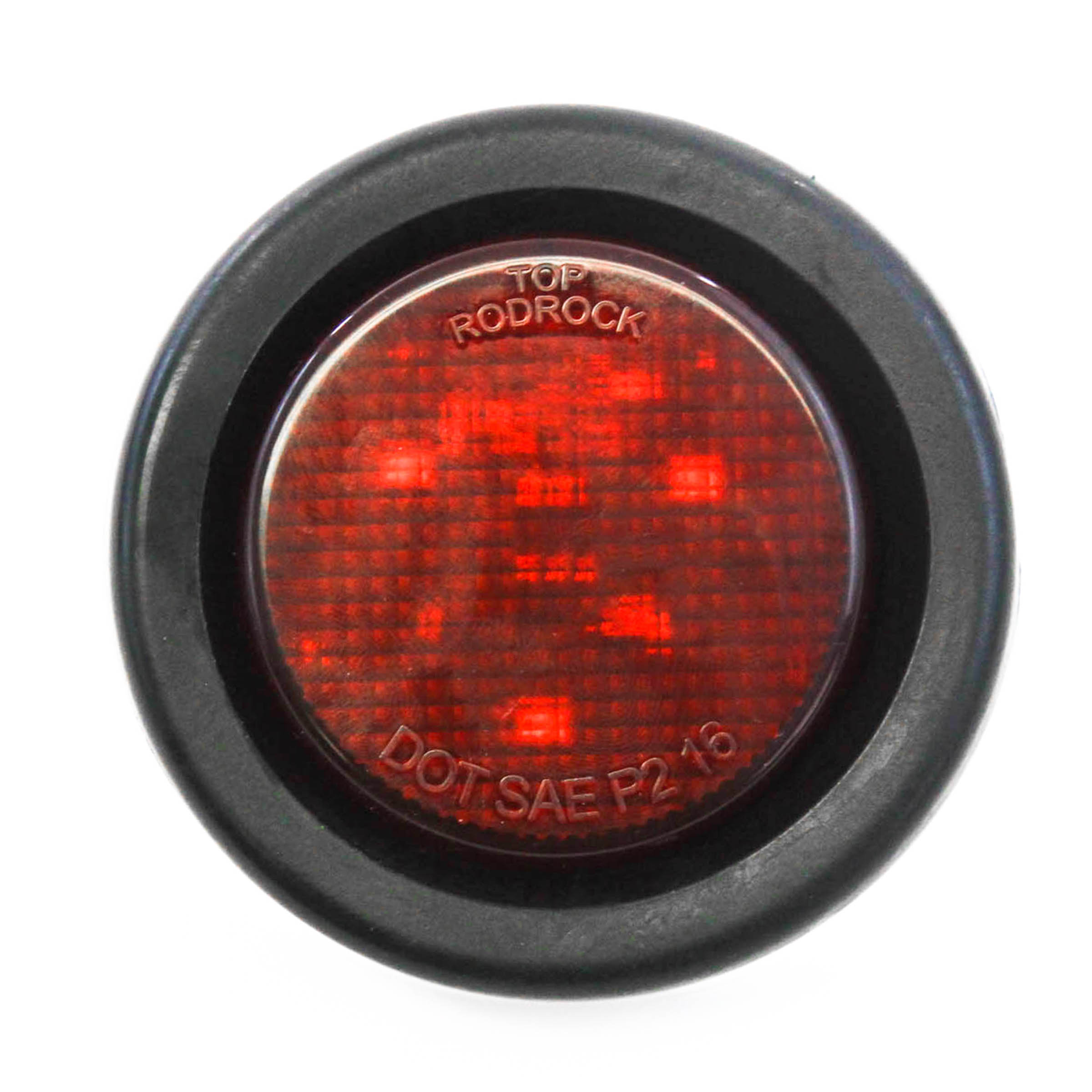 "Red LED 2"" Round Clearance/Side Marker Light Kits with Grommet Truck Trailer RV"