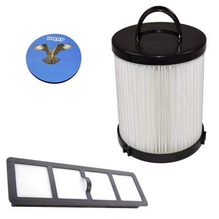 HQRP Washable Dust Cup HEPA Filter and Exhaust Filter for Eureka Upright Vac DCF-21 / 83091-1 / 68931 / EF-6 / 68931A / 69963 Replacement + HQRP Coaster