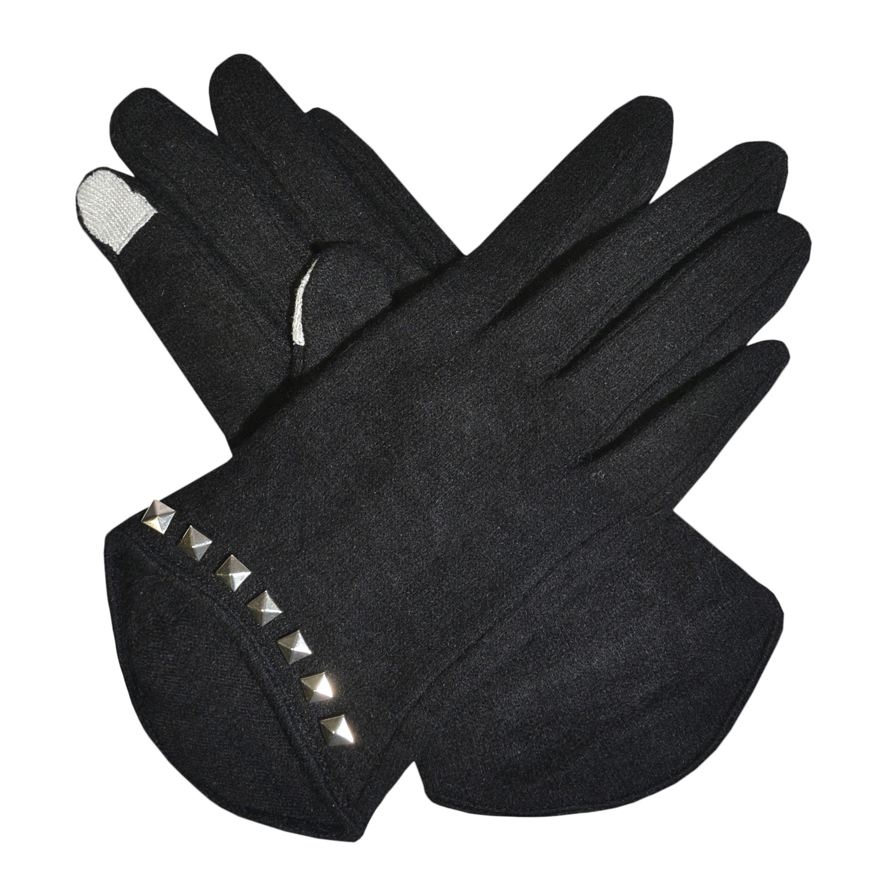Womens Sudded Touch Screen Gloves Black Grey Purple or Blue Wool Texting Gloves by Womens Wool Coats