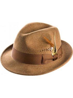 Product Image Montique Snap Brim Fedora Men s Felt Hat 8f7668b09699