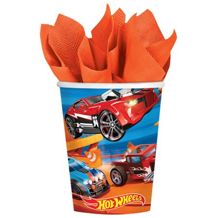 Hot Wheels Wild Racer 9oz Cups (8 Count) - Party Supplies