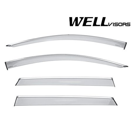 WellVisors Side Window Wind Deflector Visors - Subaru Impreza 4 Door Hatchback 17-up 2017 2018 Premium -
