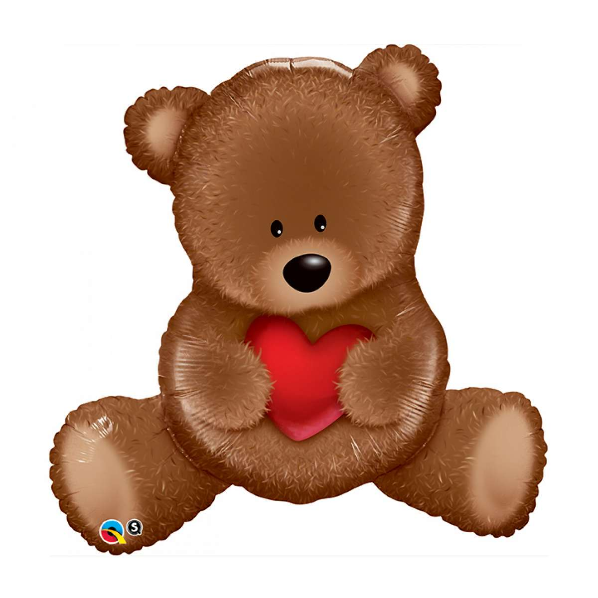 "XL 35"" Teddy Bear With Heart Super Shape Mylar Foil Balloon Party Decoration"