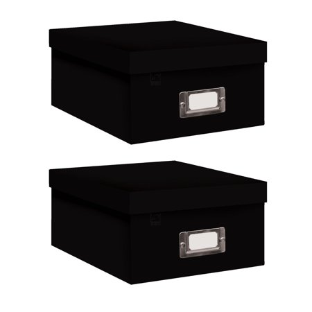 Pioneer Photo Albums B-1BLK Photo Storage Box (Black / 2-Pack) (Black Photo Box)