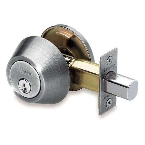 MASTER LOCK DSO0615/4D Deadbolt, HD, Satin Chrome