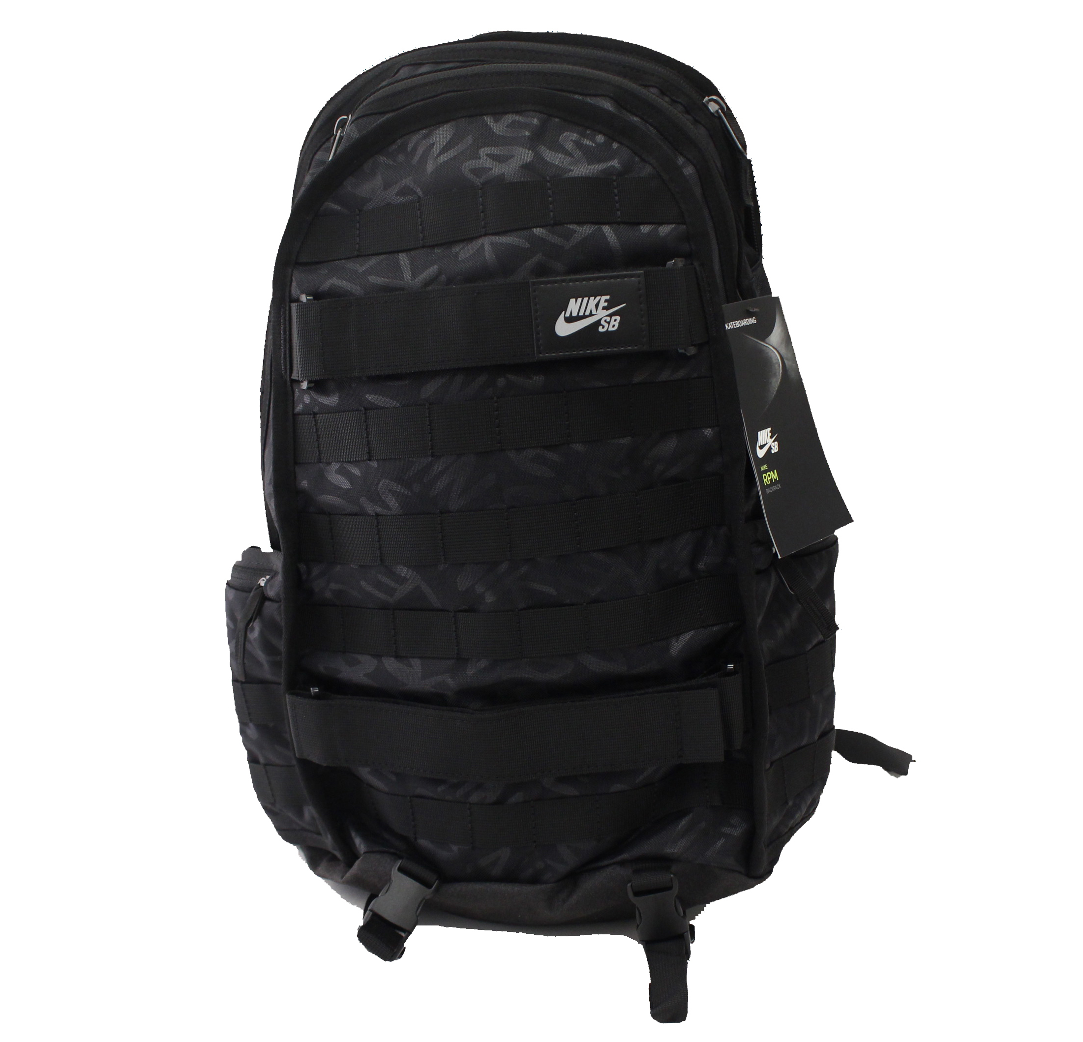 NIKE SB RPM SKATE BACKPACK TRIPLE BLACK WATER RESISTANT LAPTOP BAG BA5404 010 by