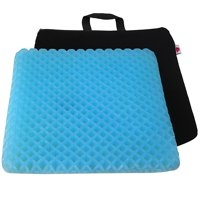 FOMI Premium All Gel Orthopedic Seat Cushion Pad for Car, Office Chair, Wheelchair, or Home. Pressure Sore Relief. Ultimate Gel Comfort, Prevents Sweaty Bottom, Durable, Portable