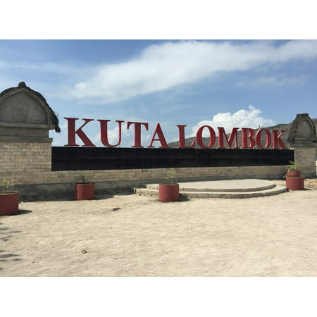 canvas print kuta name word beach letters indonesia lombok stretched canvas 10 x 14