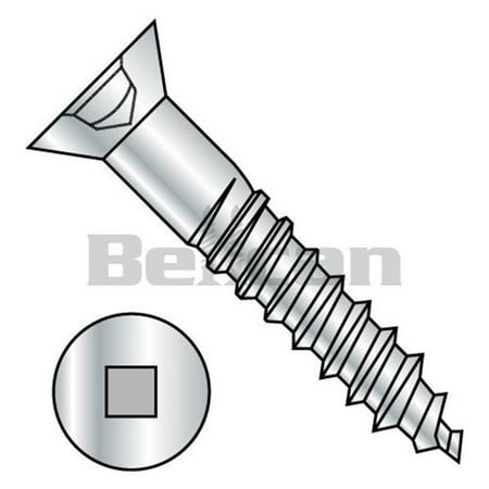 9 x 1.25 Square Drive Flat Head Fully Body Wood Screw - Zinc - Box of 2000 - image 1 de 1