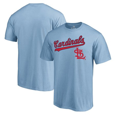 St. Louis Cardinals Fanatics Branded Cooperstown Collection Wahconah T-Shirt - Light Blue - St Louis 2017 Halloween