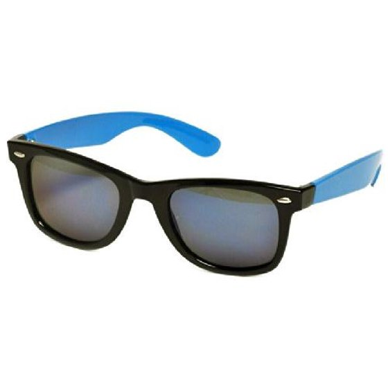 a59f4dfe2a43 Real Kids Shades - Real Kids Black Frame/Neon Blue Temples Blue ...