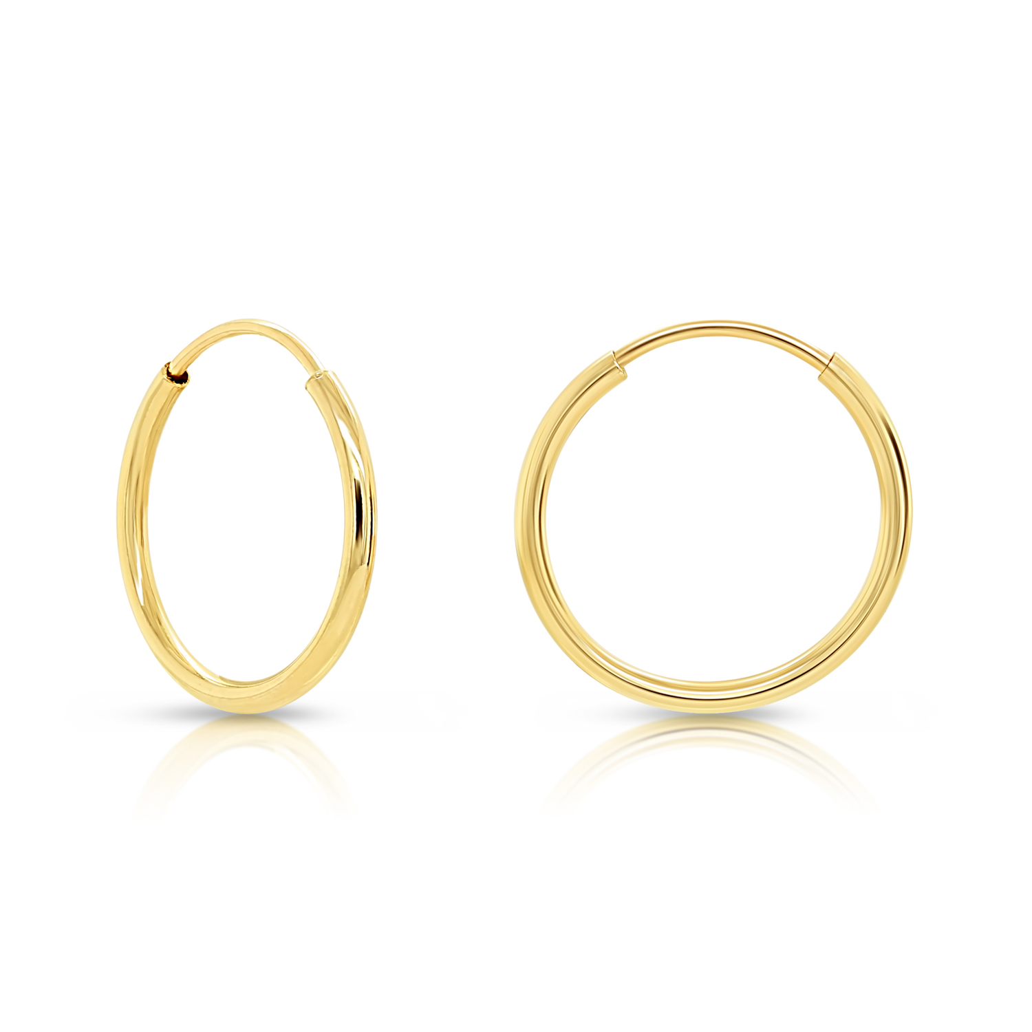 Classic Hoop Earrings 10K or 14K Solid Gold Earrings Kids or Adult in Yellow Gold Small Hoop Earrings For baby Rose Gold or White Gold