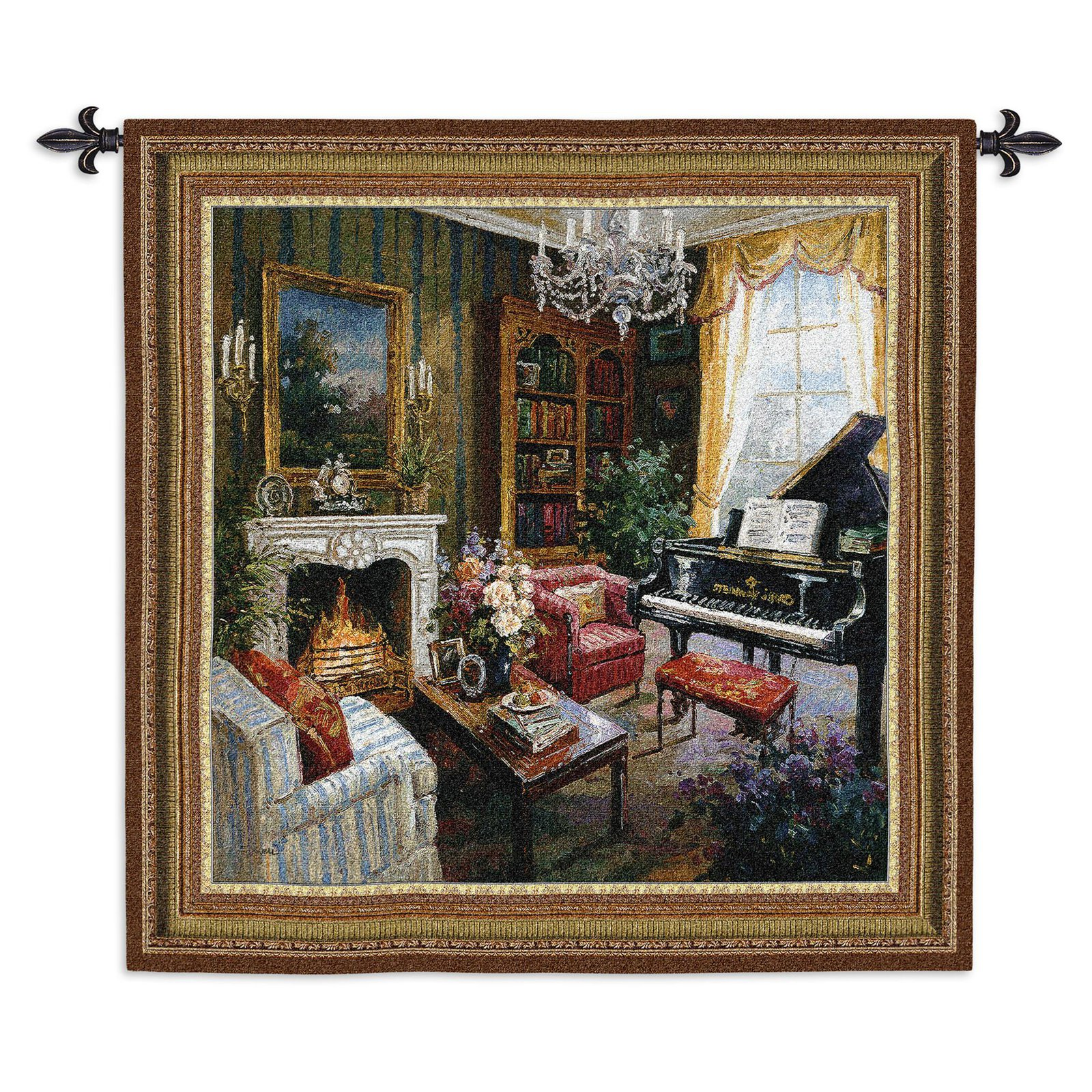 Click here to buy Fine Art Tapestries Grand Piano Room Wall Tapestry by Supplier Generic.