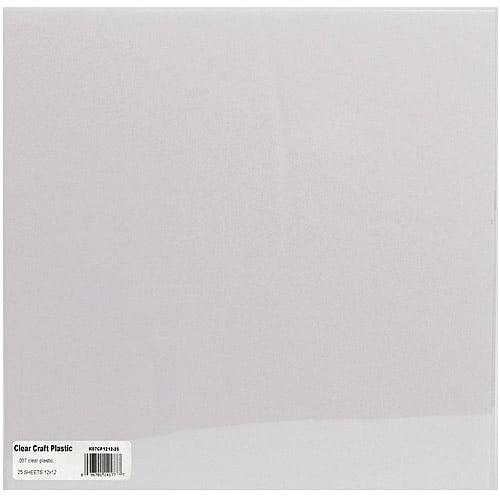 """Grafix Clear Plastic Sheets, 25Pk, 12"""" x 12"""""""