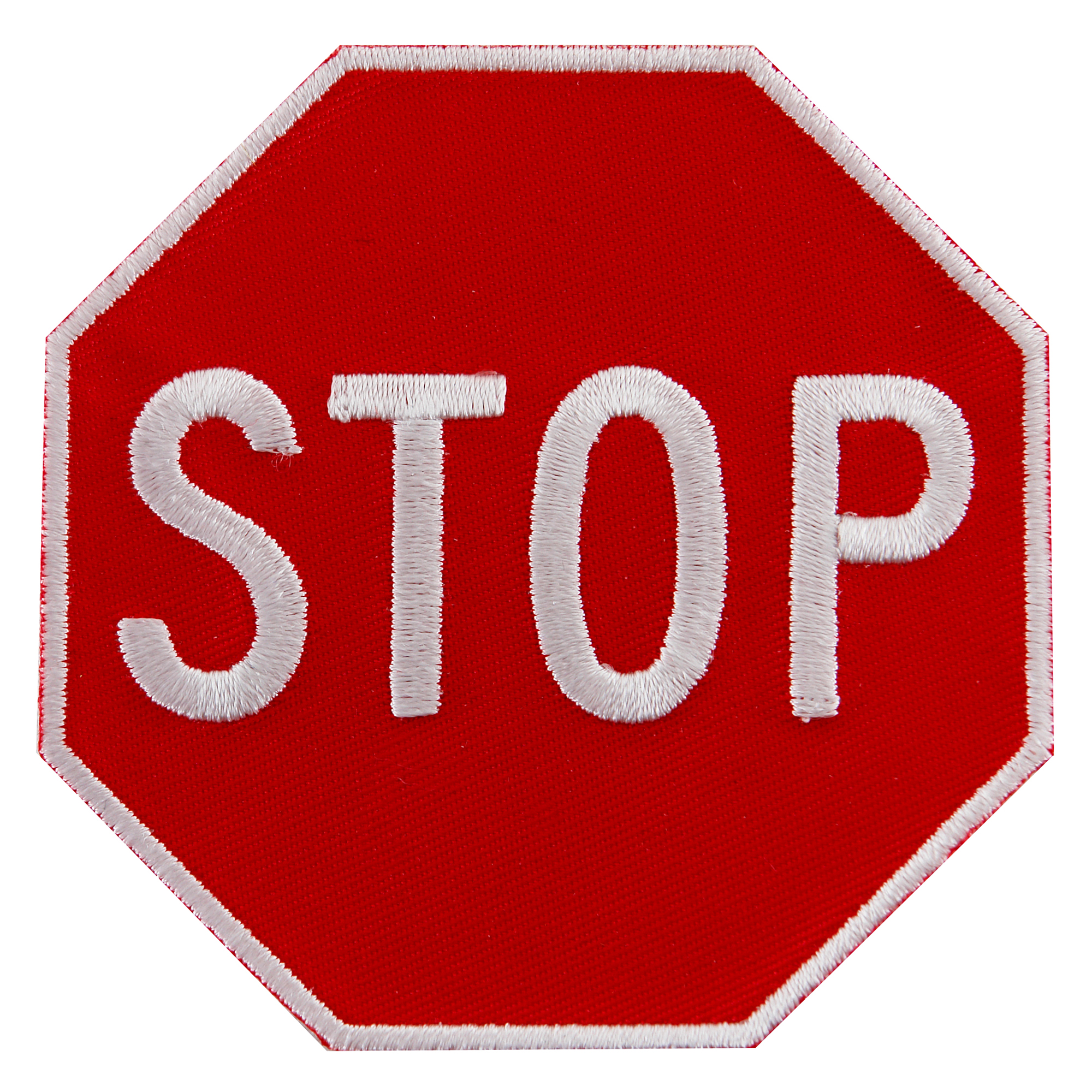 Stop Sign Embroidered Iron-On Patch